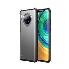 Handyhülle Hülle Ultra Dünn Schutzhülle Tasche Durchsichtig Transparent Matt U02 für Huawei Mate 30 5G Schwarz