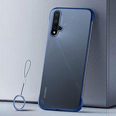 Handyhülle Hülle Ultra Dünn Schutzhülle Tasche Durchsichtig Transparent Matt U02 für Huawei Nova 5 Blau