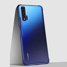 Handyhülle Hülle Ultra Dünn Schutzhülle Tasche Durchsichtig Transparent Matt U02 für Huawei Nova 6 5G Blau