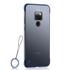 Handyhülle Hülle Ultra Dünn Schutzhülle Tasche Durchsichtig Transparent Matt U03 für Huawei Mate 20 Blau