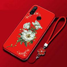 Handyhülle Silikon Hülle Gummi Schutzhülle Blumen für Huawei Enjoy 9s Bunt