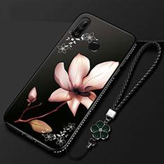 Handyhülle Silikon Hülle Gummi Schutzhülle Blumen für Huawei Enjoy 9s Plusfarbig
