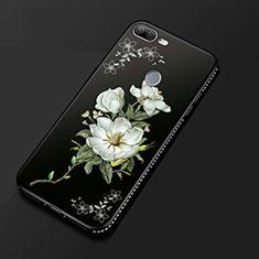 Handyhülle Silikon Hülle Gummi Schutzhülle Blumen für Huawei Honor 9 Lite Schwarz