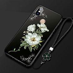 Handyhülle Silikon Hülle Gummi Schutzhülle Blumen für Xiaomi Mi A2 Lite Plusfarbig