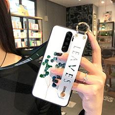 Handyhülle Silikon Hülle Gummi Schutzhülle Blumen für Xiaomi Redmi Note 8 Pro Grün