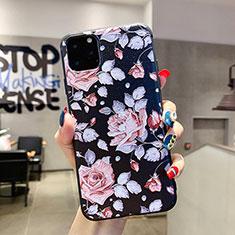 Handyhülle Silikon Hülle Gummi Schutzhülle Blumen H02 für Apple iPhone 11 Pro Max Rosa