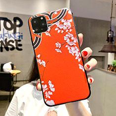 Handyhülle Silikon Hülle Gummi Schutzhülle Blumen H05 für Apple iPhone 11 Pro Max Orange
