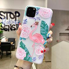 Handyhülle Silikon Hülle Gummi Schutzhülle Blumen H10 für Apple iPhone 11 Pro Max Grün