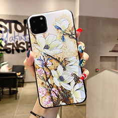 Handyhülle Silikon Hülle Gummi Schutzhülle Blumen H12 für Apple iPhone 11 Pro Max Weiß