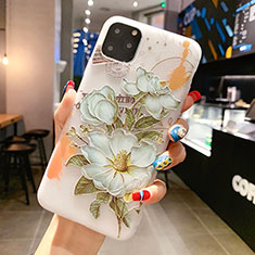 Handyhülle Silikon Hülle Gummi Schutzhülle Blumen H15 für Apple iPhone 11 Pro Max Grün