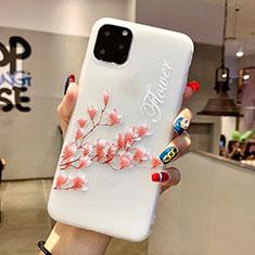 Handyhülle Silikon Hülle Gummi Schutzhülle Blumen H18 für Apple iPhone 11 Pro Max Rosa