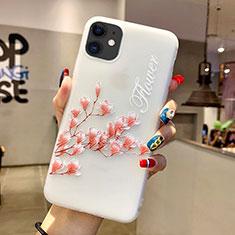 Handyhülle Silikon Hülle Gummi Schutzhülle Blumen H18 für Apple iPhone 11 Rosa