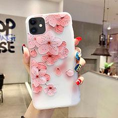 Handyhülle Silikon Hülle Gummi Schutzhülle Blumen H19 für Apple iPhone 11 Rosa