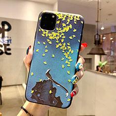 Handyhülle Silikon Hülle Gummi Schutzhülle Blumen H20 für Apple iPhone 11 Pro Blau