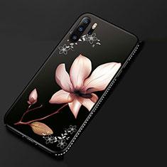 Handyhülle Silikon Hülle Gummi Schutzhülle Blumen S01 für Huawei P30 Pro Rosa