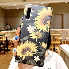 Handyhülle Silikon Hülle Gummi Schutzhülle Blumen S01 für Samsung Galaxy Note 10 5G Plusfarbig