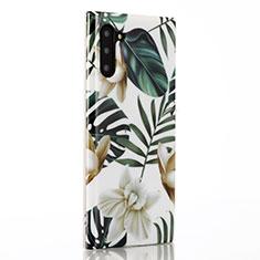 Handyhülle Silikon Hülle Gummi Schutzhülle Blumen S02 für Samsung Galaxy Note 10 Grün