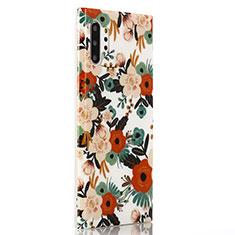 Handyhülle Silikon Hülle Gummi Schutzhülle Blumen S02 für Samsung Galaxy Note 10 Plus 5G Plusfarbig