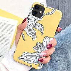 Handyhülle Silikon Hülle Gummi Schutzhülle Blumen S03 für Apple iPhone 11 Gelb