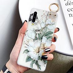 Handyhülle Silikon Hülle Gummi Schutzhülle Blumen S05 für Huawei P30 Grün