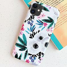 Handyhülle Silikon Hülle Gummi Schutzhülle Blumen S06 für Apple iPhone 11 Cyan