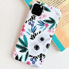 Handyhülle Silikon Hülle Gummi Schutzhülle Blumen S06 für Apple iPhone 11 Pro Cyan