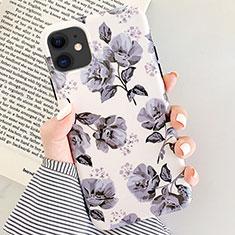 Handyhülle Silikon Hülle Gummi Schutzhülle Blumen S07 für Apple iPhone 11 Grau