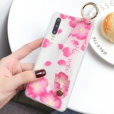 Handyhülle Silikon Hülle Gummi Schutzhülle Blumen S08 für Huawei P30 Rosa