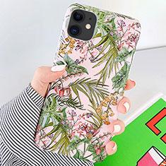 Handyhülle Silikon Hülle Gummi Schutzhülle Blumen S09 für Apple iPhone 11 Grün
