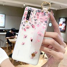 Handyhülle Silikon Hülle Gummi Schutzhülle Blumen S10 für Huawei P30 Rosa