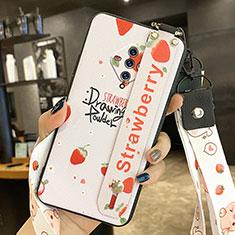 Handyhülle Silikon Hülle Gummi Schutzhülle Flexible Blumen für Vivo X50e 5G Rot