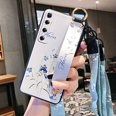 Handyhülle Silikon Hülle Gummi Schutzhülle Flexible Blumen für Xiaomi Mi 10 Ultra Weiß