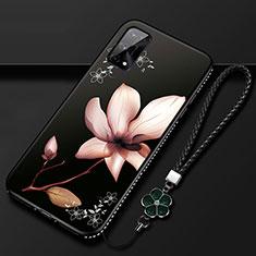 Handyhülle Silikon Hülle Gummi Schutzhülle Flexible Blumen S01 für Realme Q2 Pro 5G Braun