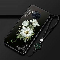 Handyhülle Silikon Hülle Gummi Schutzhülle Flexible Blumen S01 für Vivo Nex 3 Weiß