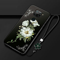 Handyhülle Silikon Hülle Gummi Schutzhülle Flexible Blumen S05 für Xiaomi Redmi 10X 4G Weiß