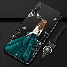 Handyhülle Silikon Hülle Gummi Schutzhülle Flexible Motiv Kleid Mädchen für Huawei Enjoy 10 Grün