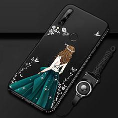 Handyhülle Silikon Hülle Gummi Schutzhülle Flexible Motiv Kleid Mädchen für Huawei Enjoy 10 Plus Grün