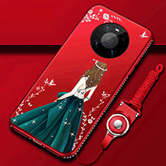 Handyhülle Silikon Hülle Gummi Schutzhülle Flexible Motiv Kleid Mädchen für Huawei Mate 40 Pro Grün
