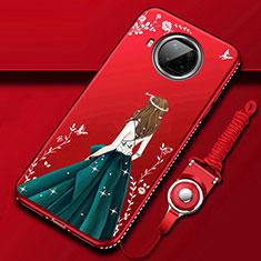 Handyhülle Silikon Hülle Gummi Schutzhülle Flexible Motiv Kleid Mädchen für Xiaomi Mi 10T Lite 5G Fuchsie