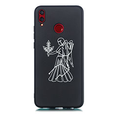 Handyhülle Silikon Hülle Gummi Schutzhülle Konstellation S12 für Huawei Honor 8X Schwarz