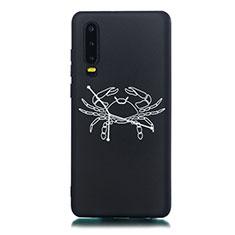 Handyhülle Silikon Hülle Gummi Schutzhülle Konstellation S12 für Huawei P30 Schwarz