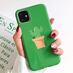 Handyhülle Silikon Hülle Gummi Schutzhülle Modisch Muster H02 für Apple iPhone 11 Grün