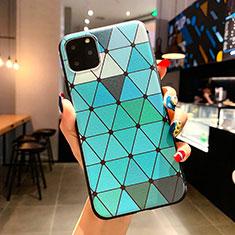 Handyhülle Silikon Hülle Gummi Schutzhülle Modisch Muster H04 für Apple iPhone 11 Pro Max Hellblau