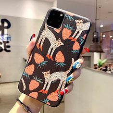 Handyhülle Silikon Hülle Gummi Schutzhülle Modisch Muster H06 für Apple iPhone 11 Pro Max Schwarz