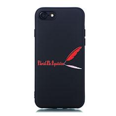 Handyhülle Silikon Hülle Gummi Schutzhülle Modisch Muster S01 für Apple iPhone 7 Rot