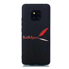 Handyhülle Silikon Hülle Gummi Schutzhülle Modisch Muster S01 für Huawei Mate 20 Pro Rot