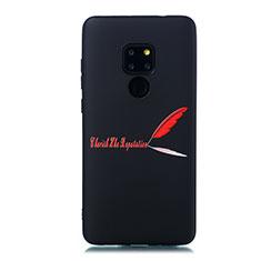 Handyhülle Silikon Hülle Gummi Schutzhülle Modisch Muster S01 für Huawei Mate 20 Rot
