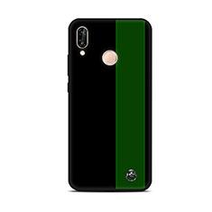 Handyhülle Silikon Hülle Gummi Schutzhülle Modisch Muster S01 für Huawei P20 Lite Grün