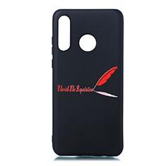 Handyhülle Silikon Hülle Gummi Schutzhülle Modisch Muster S01 für Huawei P30 Lite Rot