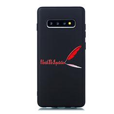 Handyhülle Silikon Hülle Gummi Schutzhülle Modisch Muster S01 für Samsung Galaxy S10 Rot
